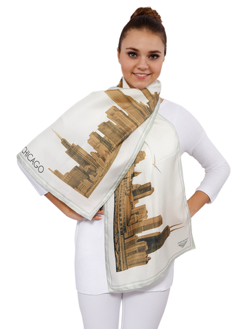 CHICAGO_COLLECTION_Pencil_Illustration_Silk_Twill_Scarf_Alesia_C_GOLD_2