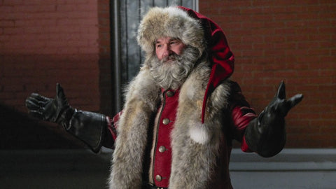 """Kurt Russel in role of Santa Claus in """"Christmas Chronicles"""" movie. Inspiration for custom Santa costume for Alesia C. client"""