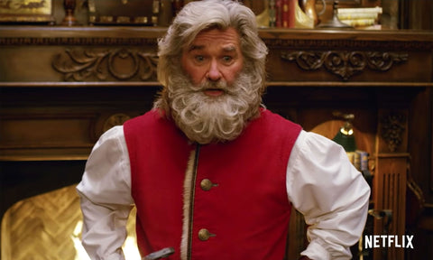 "Kurt Russel in role of Santa Claus in ""Christmas Chronicles"" movie inspiration for custom Santa costume by Alesia C."