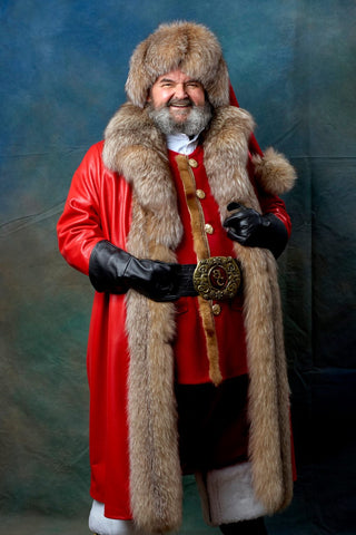 Santa Clause costume inspired by Christmas Chronicles 2 movie designed by Chicago artist and fashion designer Alesia Chaika