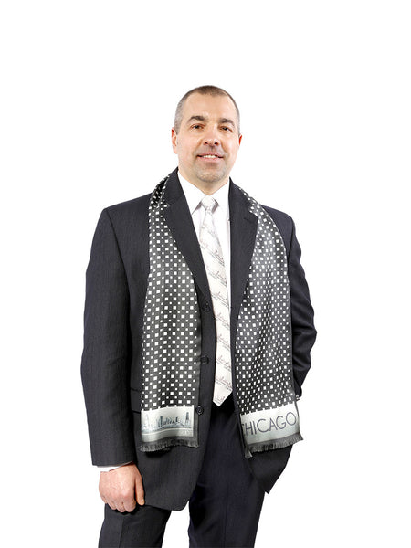 CHICAGO SILK MENS SCARVES