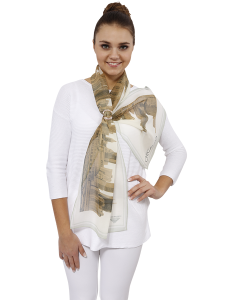 CHICAGO SILK GEORGETTE SCARVES