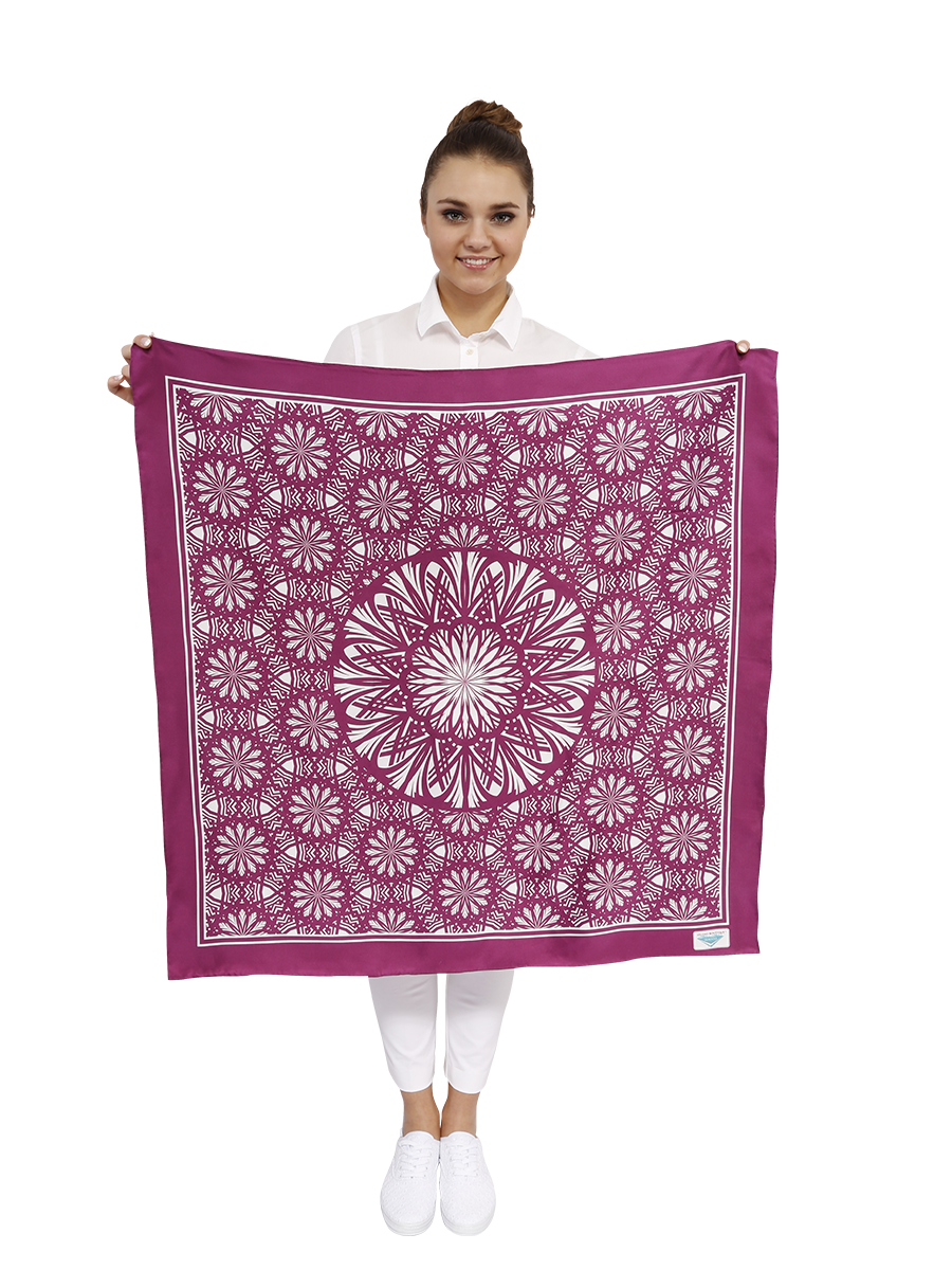 ASTER Square Silk Scarf 4 Colors By ALESIA C.
