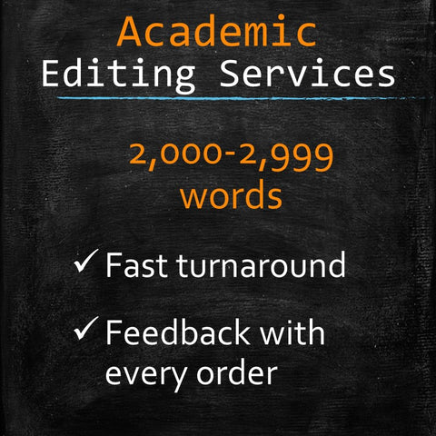 Academic Editing: 2,000-2,999 words - MyWordCoach.ca
