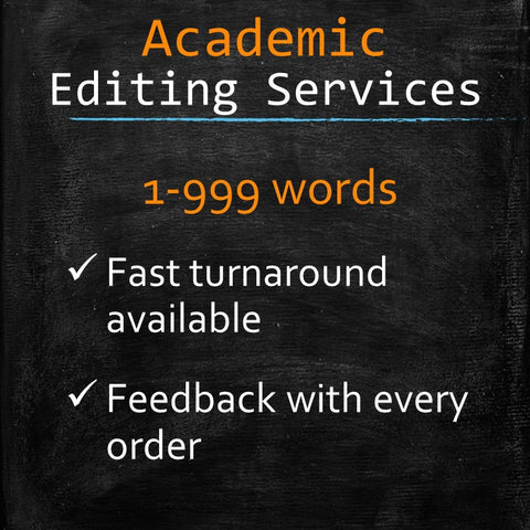 Academic Editing: 1 to 999 words - MyWordCoach.ca