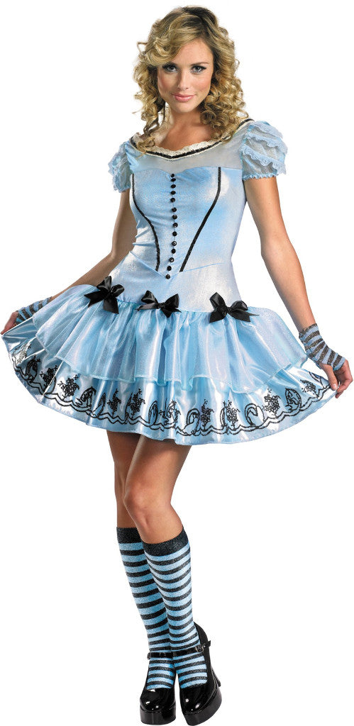 alice in wonderland movie - sassy blue dress alice adult costume - Fangtastic Costumes
