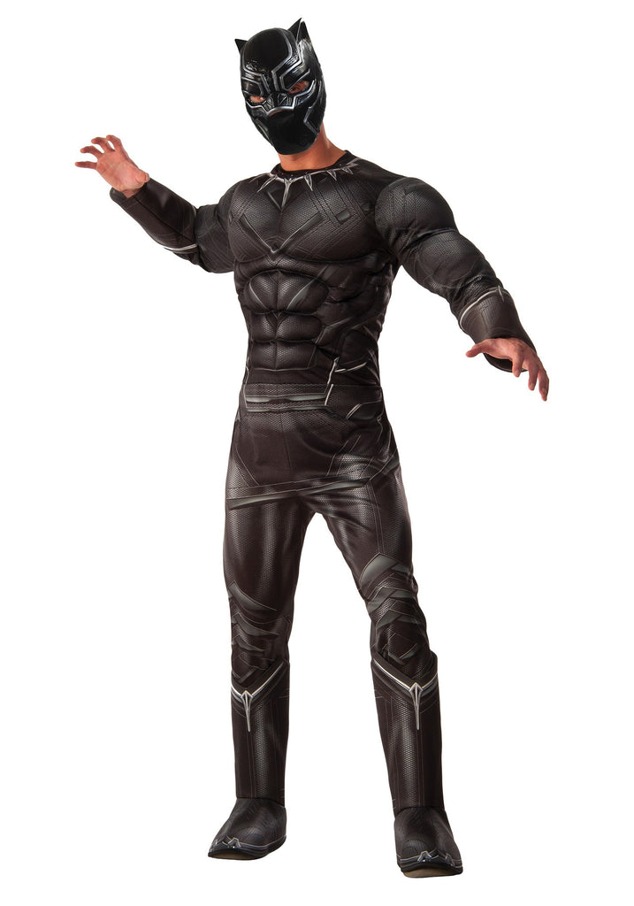 MARVEL'S CAPTAIN AMERICA: CIVIL WAR DELUXE MEN'S BLACK PANTHER COSTUME