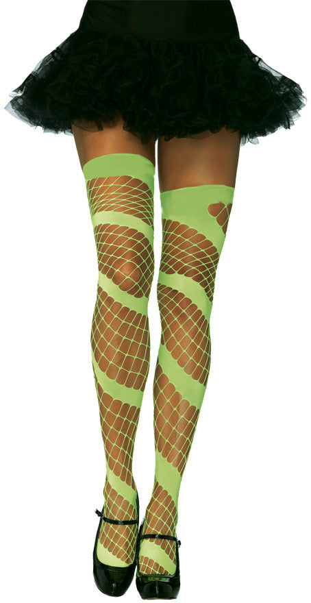 costume-accessory:-women's-thigh-high-neon-green