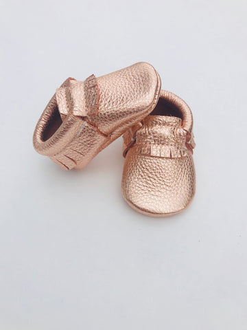 Rose Gold Moccasins