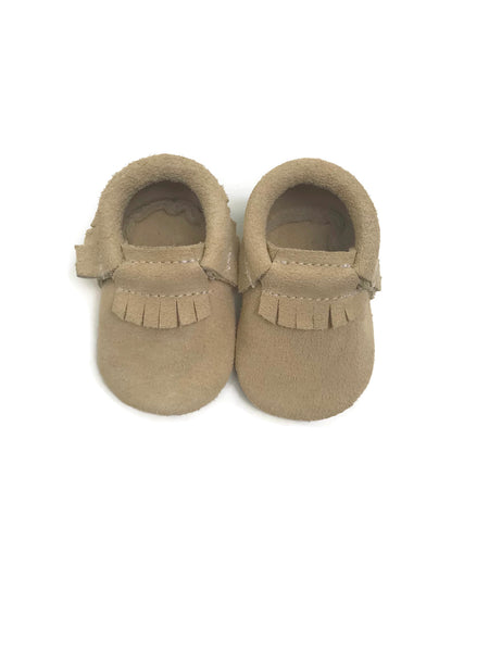 Tan Suede Leather Moccasins