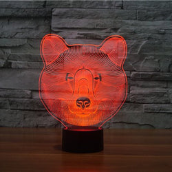 Bear face led lamp - free shipping
