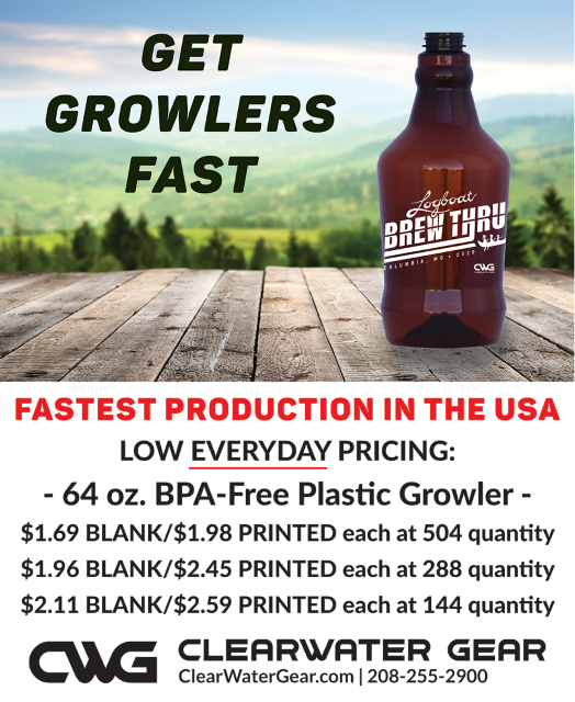#323-PET 64oz BPA-free growlers