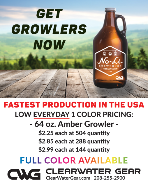 64oz Amber Growlers