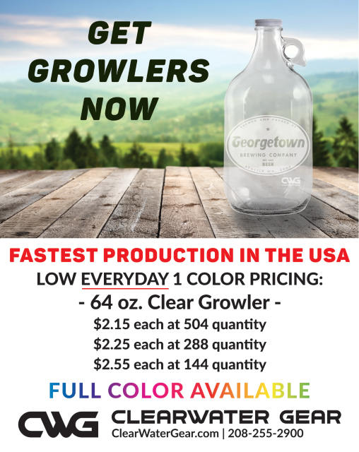 Clear 64oz Growlers