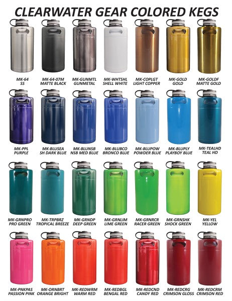 Insulated Keg Growler Colors