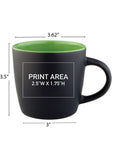 12 oz. Cafe Matte Mug #27M - 7 Colors!