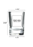 2.25 oz. Square Shot Glass #319