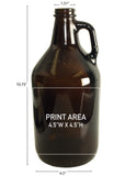 64 oz. Amber Glass Growler #323 - 3