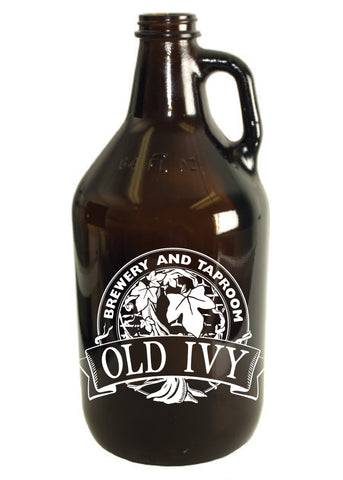 64 oz. Amber Glass Growler #323 - 1