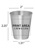 3 oz. SS Shot Glass #344S - 3