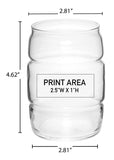 16 oz. Barrel Can Glass #638 - 3