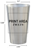 19 oz. Stainless Double Wall Pint #88-DW - 3