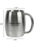 14 oz. Double Wall Stainless Mug #96-02 - 3
