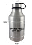 64 oz. Double Wall Barrel Growler #DWBC-02 - 3