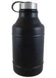 64 oz. Black Double Wall Barrel Growler #DWB-07M - 2