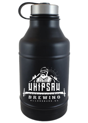 64 oz. Black Double Wall Barrel Growler #DWB-07M - 1
