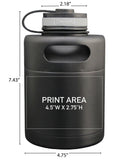 32 oz. Black Double Wall Pony Keg Growler #PK-32-M07