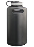 64 oz. Black Double Wall Keg Growler - #MK-64-07M