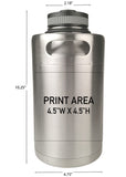 64 oz. Double Wall Keg Growler #MK-64 - 3