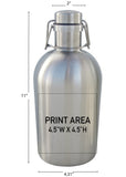 64 oz. SS Swingtop Growler #SG-02 - 3