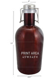 64 oz. Merlot Growler with Handle #SG-64-AM-H - 3