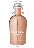 64 oz. Copper Growler with Handle #SG-64-COP - 3