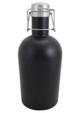 64 oz. Matte Black Growler with Handle #SG-M-07 - 2