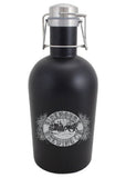64 oz. Matte Black Growler with Handle #SG-M-07 - 1