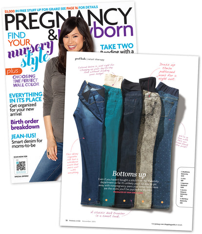 Lilac Denim on Cover and inside Pregnancy & Newborn Magazine November 2013