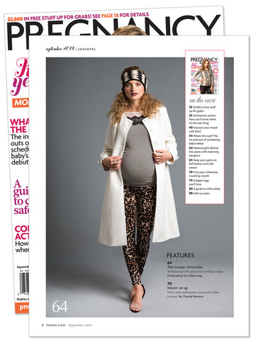 Lilac Top in Pregnancy and Newborn Magazine Sept 2014