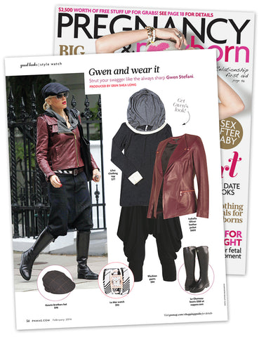 Wear it like Gwen Stefani in Pregnancy & Newborn February 2014