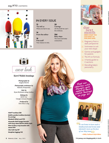 Inside Pregnancy and Newborn with Lilac Tank May 2013