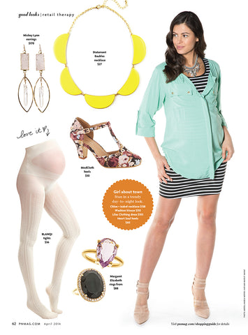Lilac Dress inside Pregnancy and Newborn Magazine April 2014