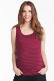 Print Tank Ruby/Black Stripe