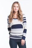 Hailey Top - Navy Stripe