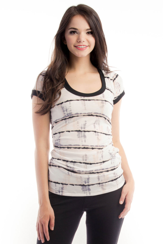 Hailey Tee - Static Stripe
