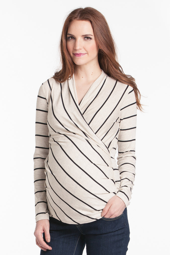 Karen Top Oat/Black Stripe