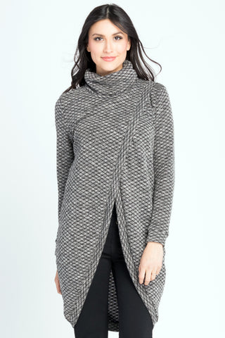 Sweater Tunic - Black Geo