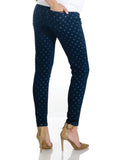 Skinny Denim Polka Dot