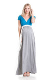 Jill Maxi Blue/Grey Stripe